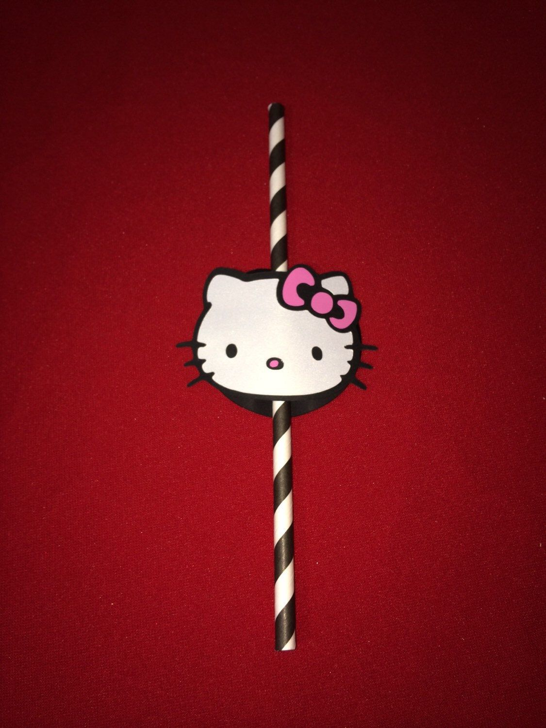 Set of 10 Hello Kitty Straws by LoveEmilee
