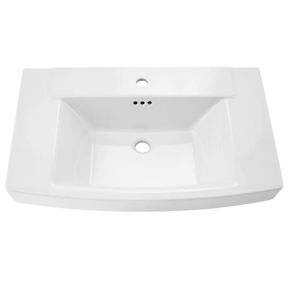 American Standard Townsend 5 In Pedestal Sink Basin In White