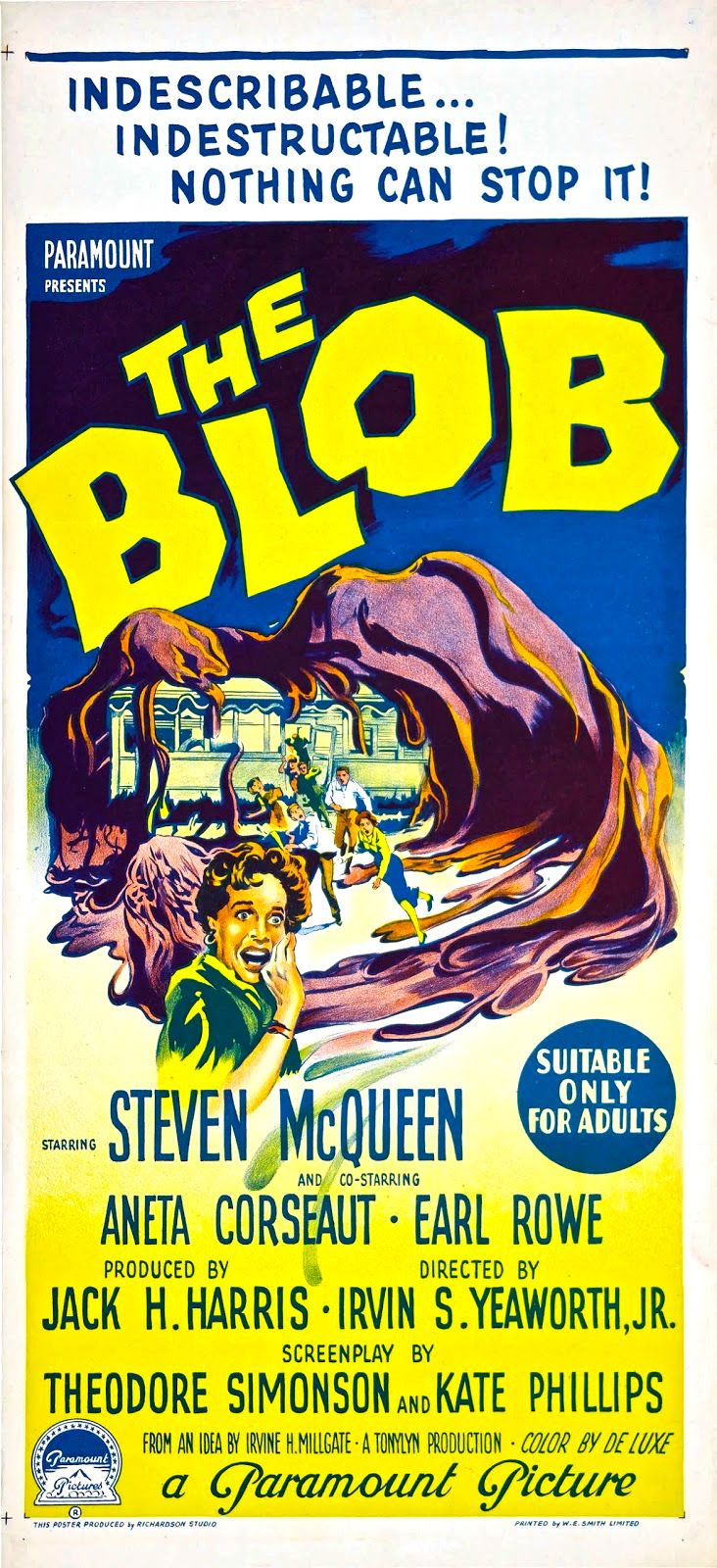 The Blob (1958) via Australia (With images) Classic sci