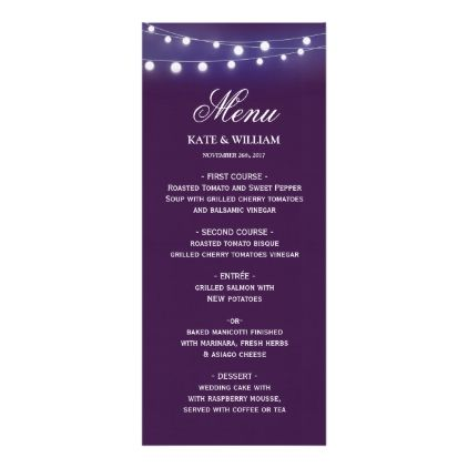 Violet with lights MENU Card Menu cards, Menu card template and - fresh wedding invitation card create