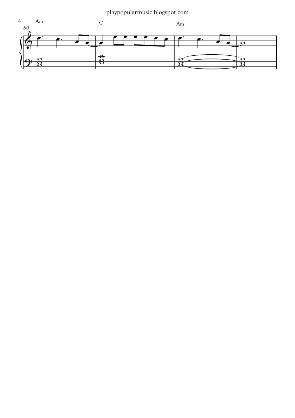 Google chrome themes justin timberlake - Free Piano Sheet Music Can T Stop The Feeling Justin Timberlake