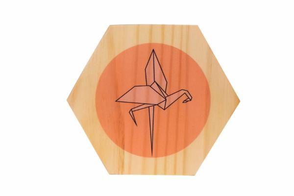 Quadro Origami Flamingo
