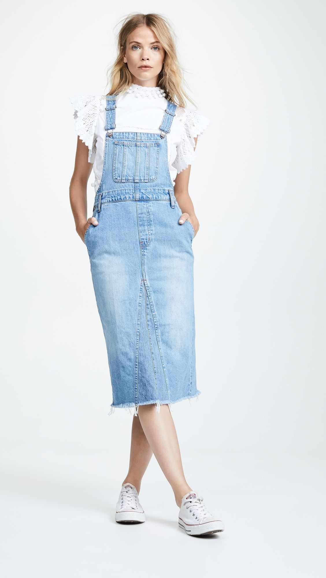 88a0989ed169cb Reconstructed Overall Jumper in 2019 | Products | Denim jumper dress ...