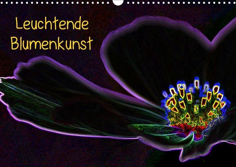 Leuchtende Blumenkunst - CALVENDO Kalender von Wolfgang DY Gerlach