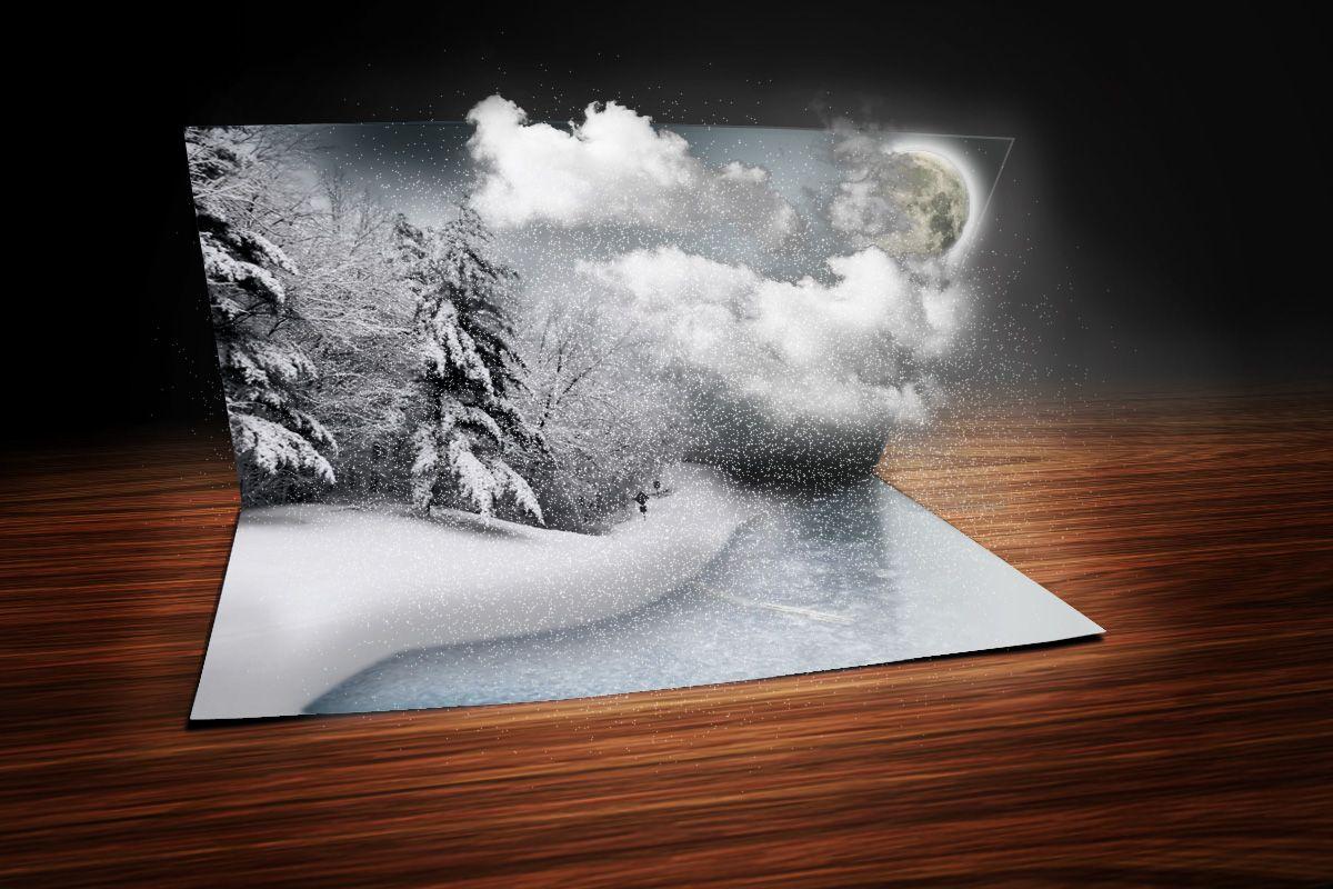 Фотошоп открытки 3д