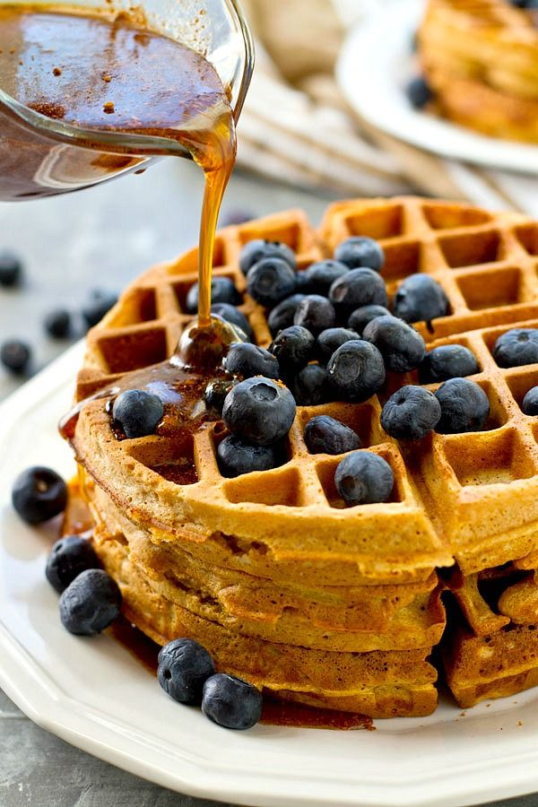 Crispy Coconut Oil Waffles with Chai Maple Syrup | Recipe ...