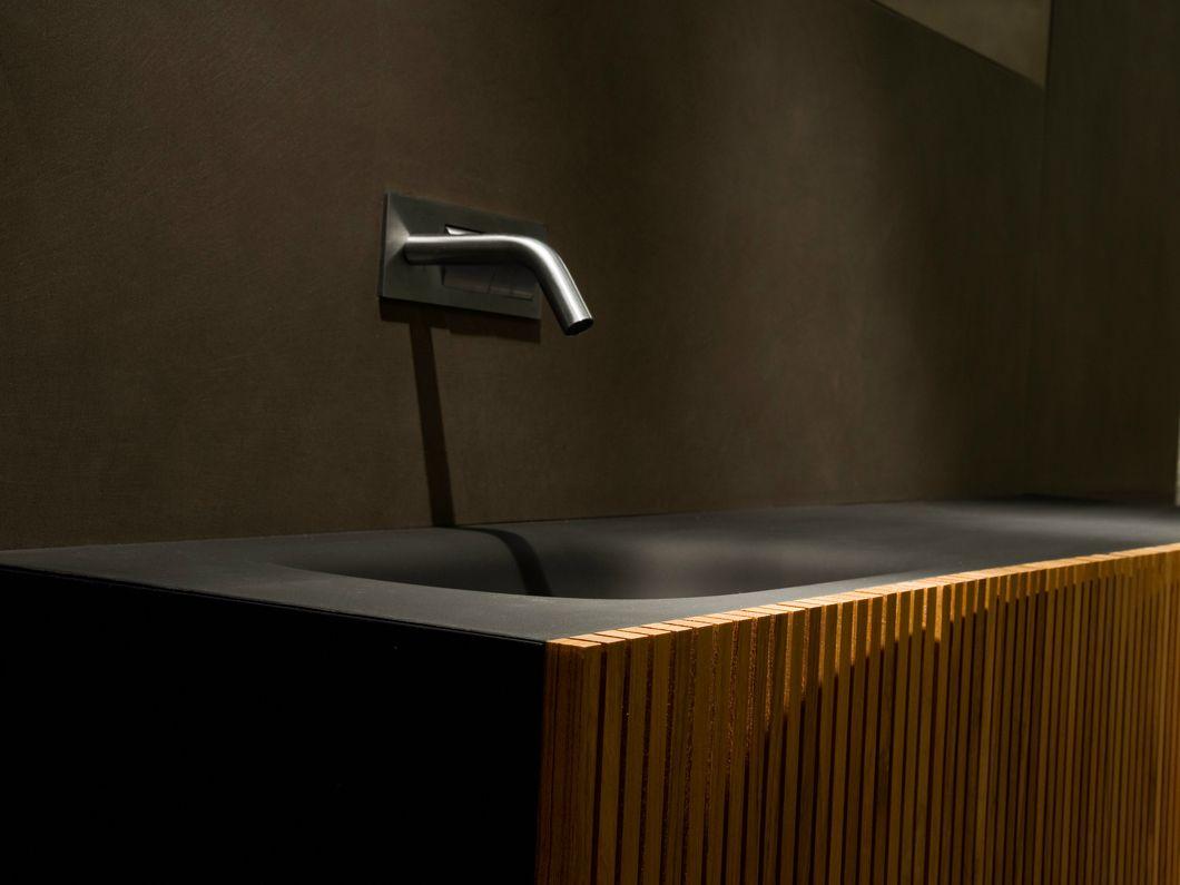 Meuble Sous Vasque Simple En Teck Avec Portes DOOR | Meuble Pour Lavabo En  Teck