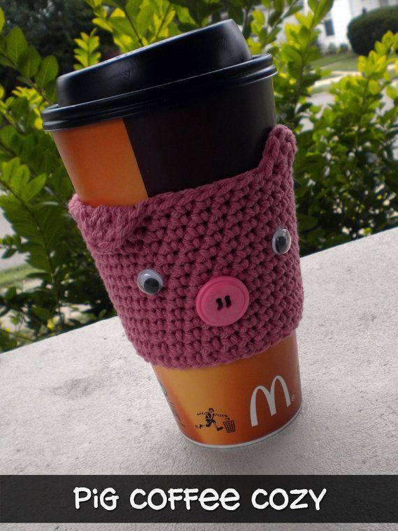 crochet coffee sleeve | Crochet Flowers, Bows, Hearts & Accesories ...