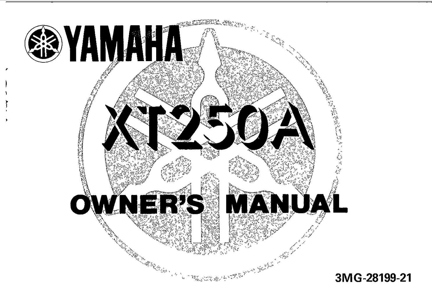 Yamaha XT250 A 1990 Owner's Manual has been published on