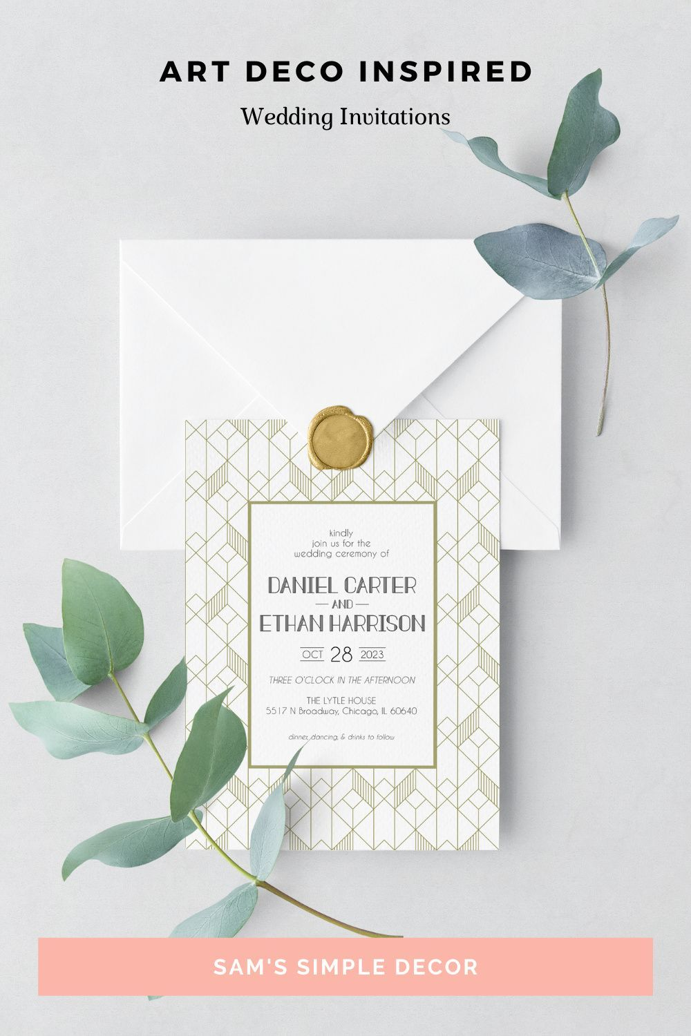 Make your stationary pop with our custom wedding invitations! Our beautiful wedding invitations will stand out above the rest of your guests mail. Click the link to shop the above wedding invitations and more wedding suite invites. Subscribe to get 15% off your first order of your wedding annoucements! #WeddingCards #WeddingArt #ElegentInvitations