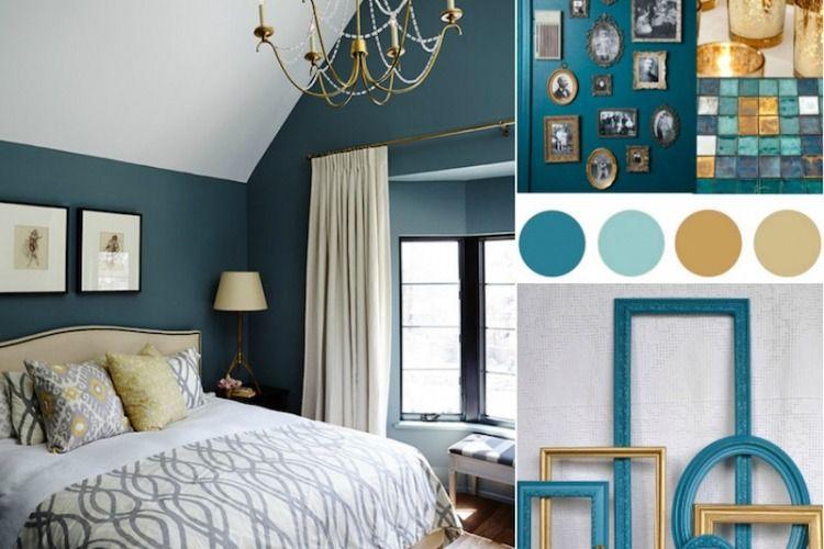 chambre bleu canard avec quelle couleur accords classe et idees de decoration