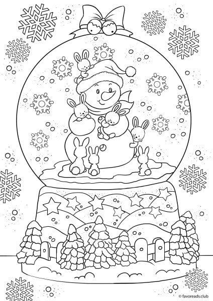 Christmas Joy Christmas Globe Christmas Coloring Sheets