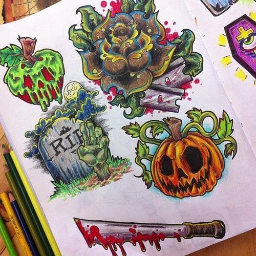 I 39 m thinking a small halloween tattoo to show my love for for Small tattoo flash