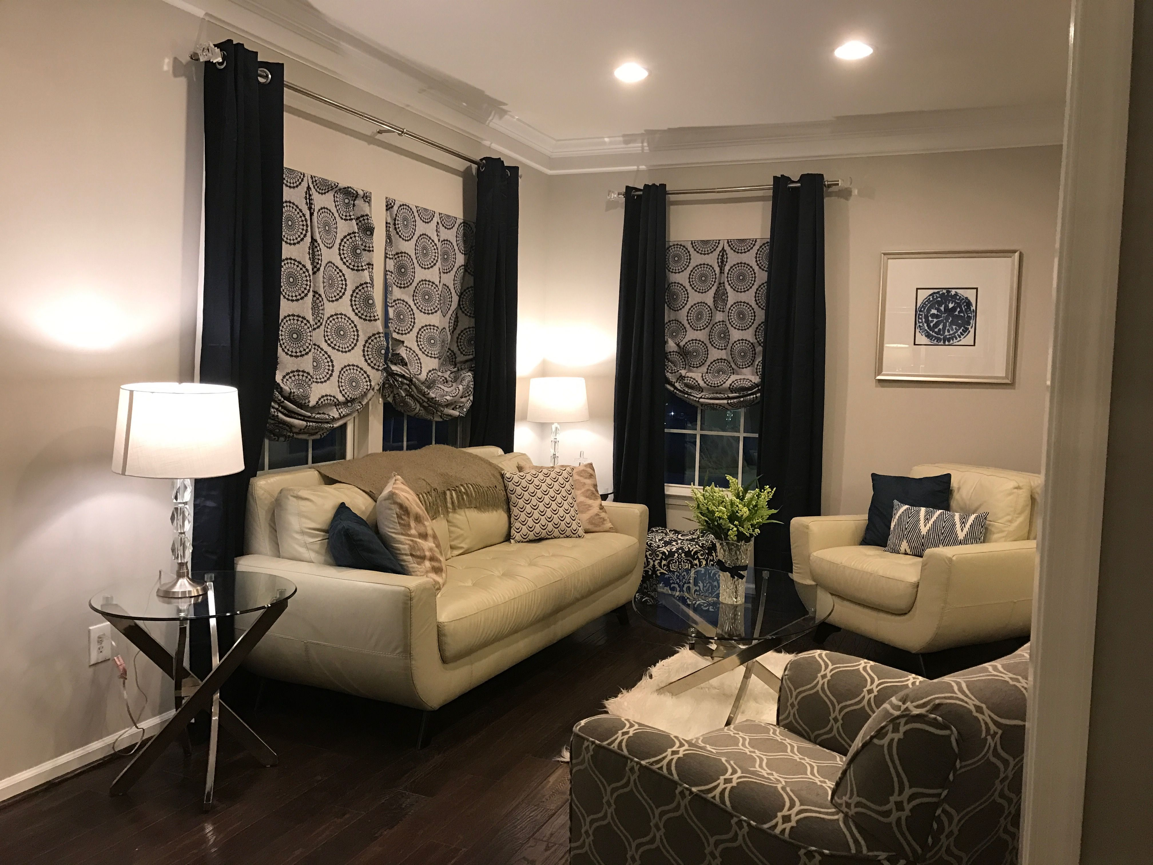 Ryan Homes Rome Model Formal Living Room Upgraded Crown Molding Raymour And Flannigan