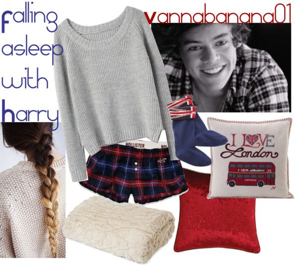 """Falling asleep with Harry"" by vannabanana01 ❤ liked on Polyvore"