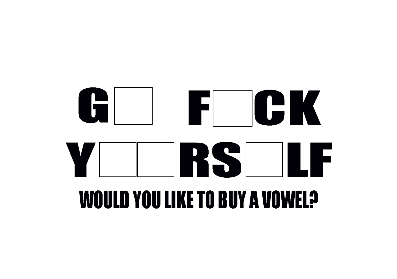 Would You Like To Buy A Vowel Funny Desktop Computer