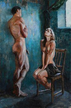 LA CONVERSA - Pintura de ERIC WALLIS