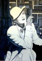 Marlene Dietrich 4 Acryl + Softpastel 70 x 100 cm