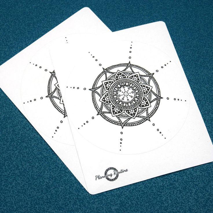 Mandala Sticker, Mandala Planner Sticker, Cute Mandala Sticker door PlanningRoutine op Etsy