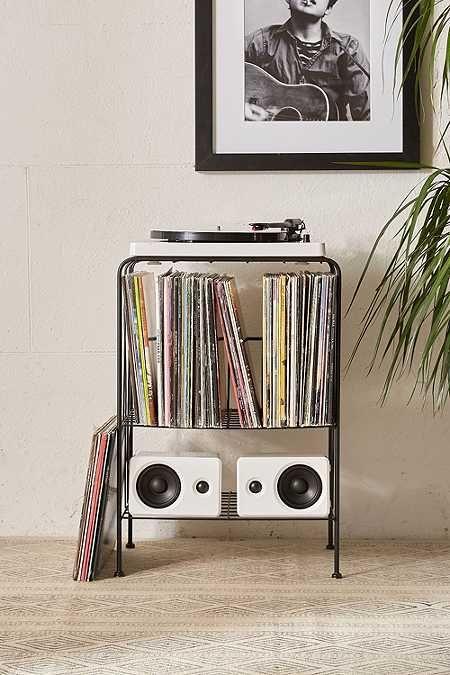 meuble de rangement melanie pour disques vinyle urban. Black Bedroom Furniture Sets. Home Design Ideas