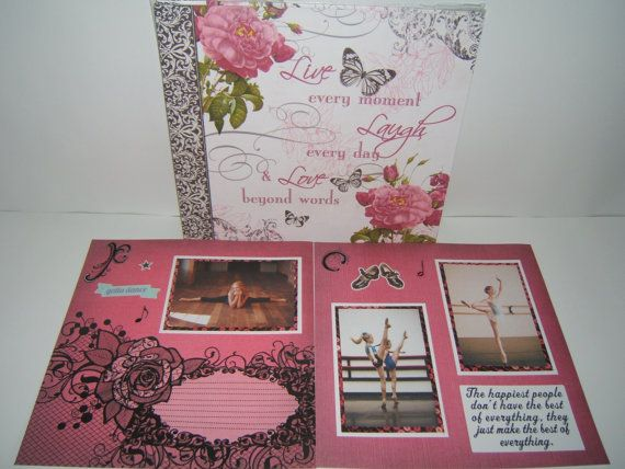 Dance Scrapbook Album Premade Dance Scrapbook Album Dance Photo