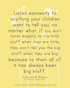 Listen to the Little Stuff