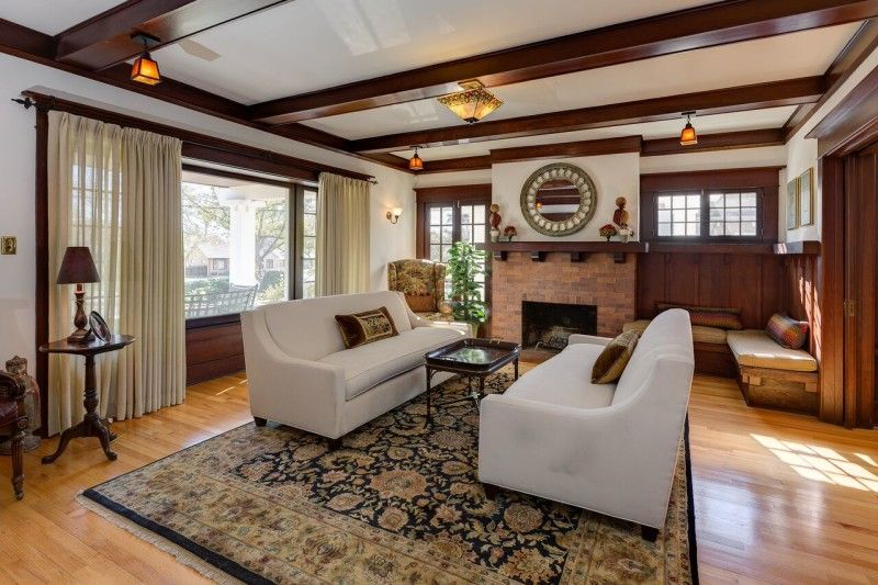 Real Estate Listings Craftsman Living Rooms Craftsman Home Interiors Craftsman Style Homes