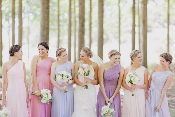 Pretty Pastel Tones Bridesmaid Dresses For Spring Summer Wedding 2017