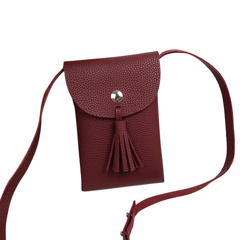 $2.46 (Buy here: https://alitems.com/g/1e8d114494ebda23ff8b16525dc3e8/?i=5&ulp=https%3A%2F%2Fwww.aliexpress.com%2Fitem%2FWomen-Simple-Fashion-Handbag-Tassel-Solid-Leather-Hasp-Coin-Purse-Bag-Vintage-Messenger-Phone-Bag-Bolsa%2F32767141589.html ) Women Simple Fashion Handbag Tassel Solid Leather Hasp Coin Purse Bag Vintage Messenger Phone Bag  Bolsa Feminina De Ombro #7116 for just $2.46