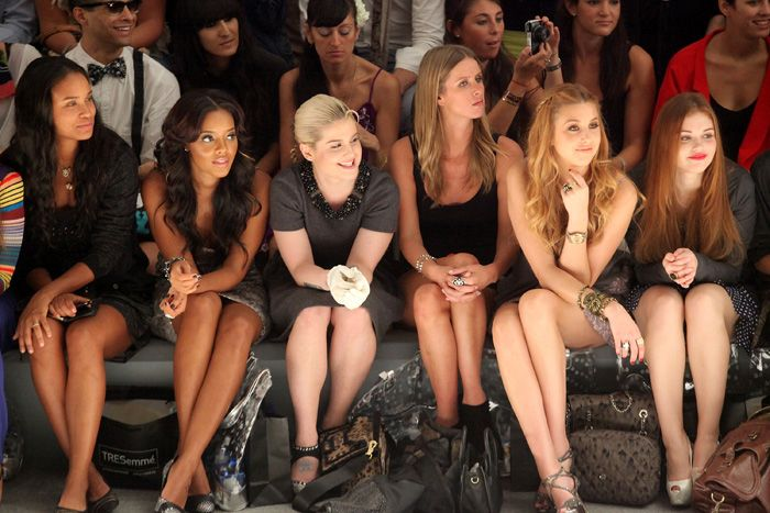 Front row with #TRESemme at Designer #CharlotteRonson Spring 2012 Show - Mercedes Benz Fashion Week #hair #models #runway #NewYorkFashionWeek #beauty #hairstyling