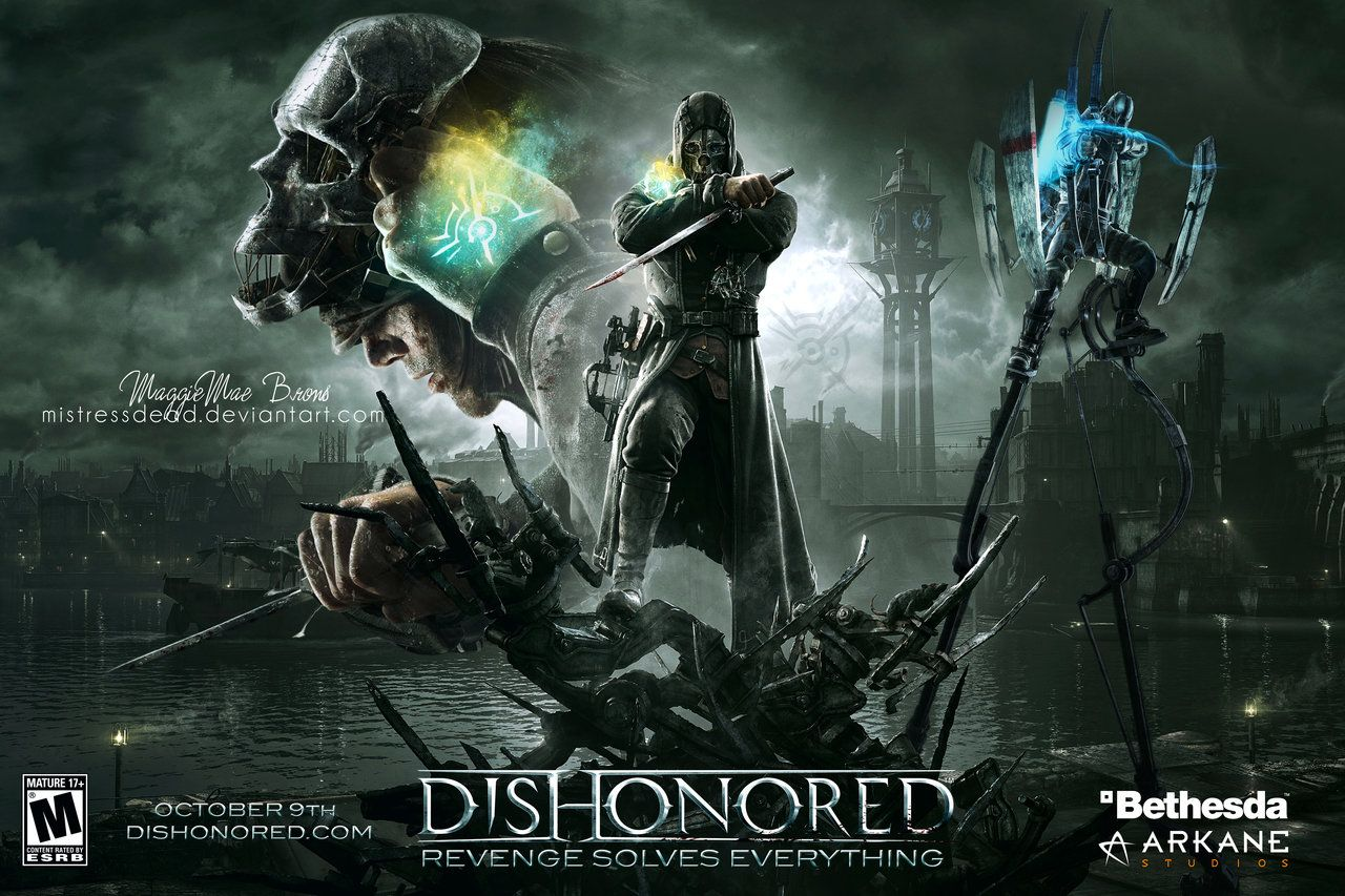 dishonored videogame | Dishonored Video Game Poster by MistressDead