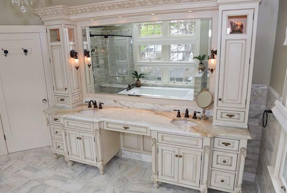 Double Sink Vanities With Makeup Area Master Bathroom Vanity Bathroom With Makeup Vanity Double Vanity Bathroom