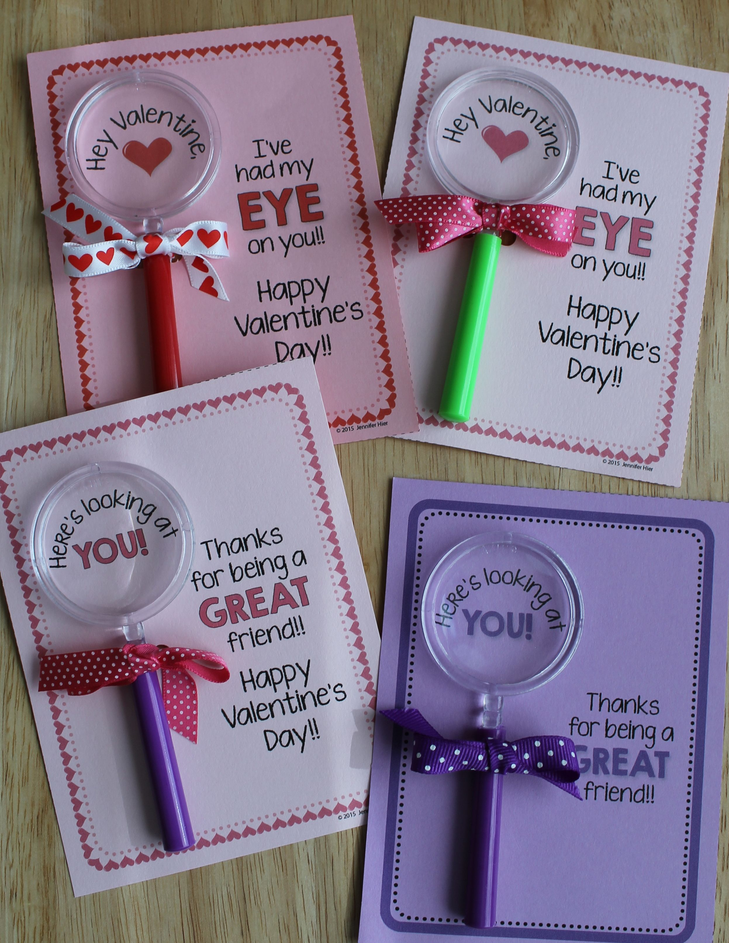 magnifying glass valentine's day card or friendship cards