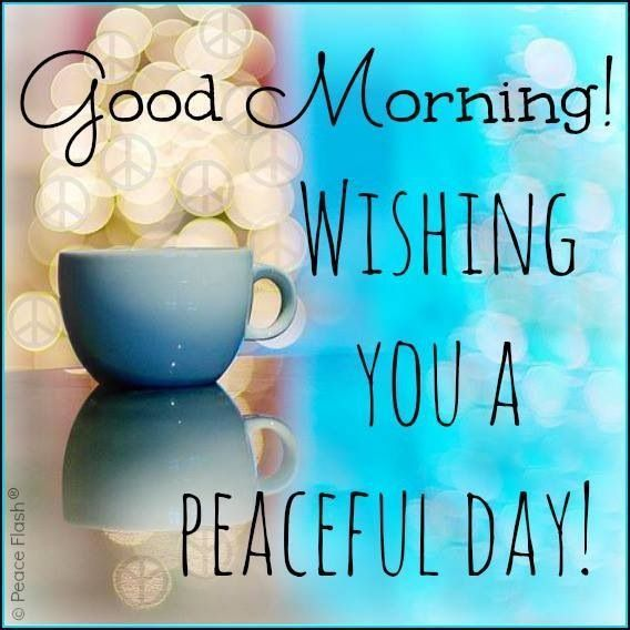 Good Morning! Wishing You A Peaceful Day! morning good morning