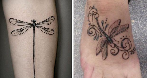 40 Diseños De Tatuajes De Libélulas Para Mujeres Kris Libelula