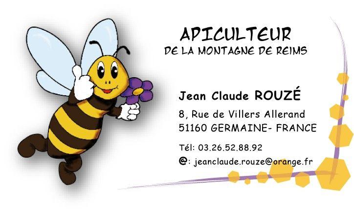Logo Tiquette Et Carte De Visite Apiculteur Reims Pots