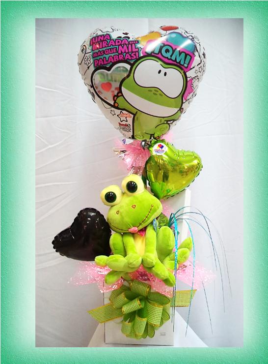 Arreglo de globos con peluche wibbit amor - Manualidades con globos ...