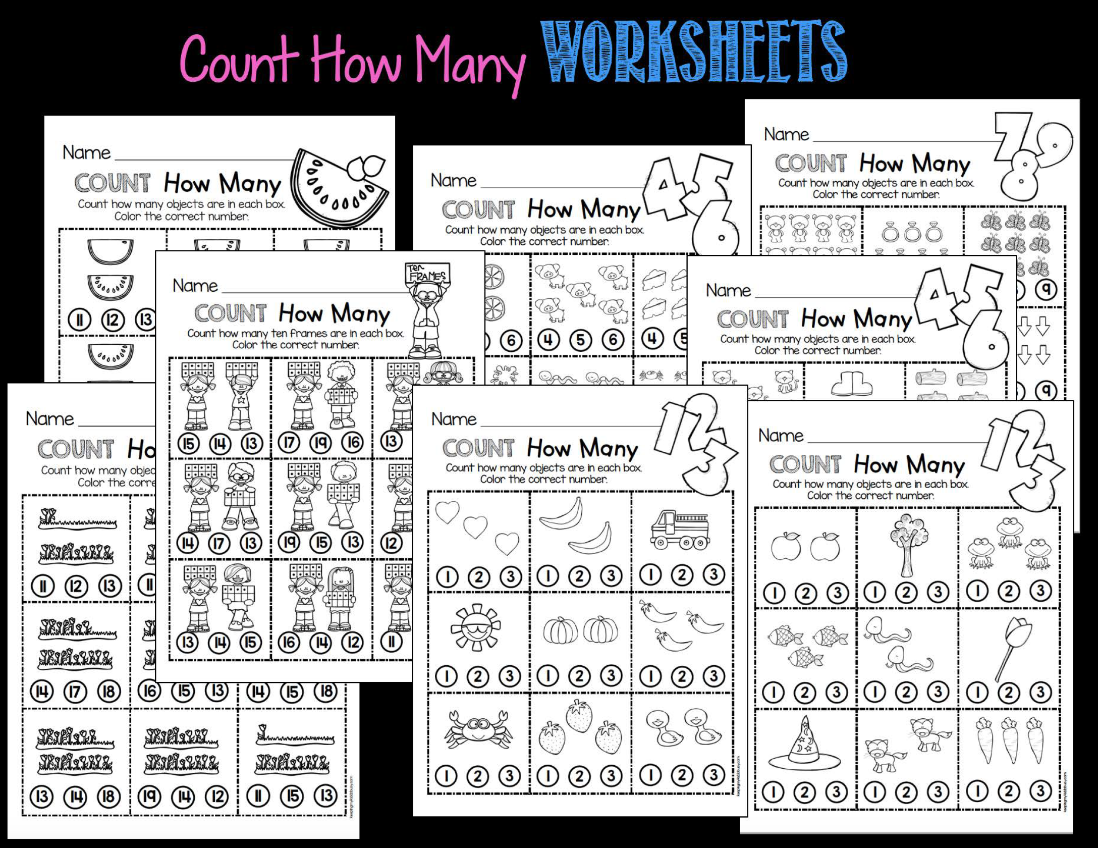 Counting And Cardinality Freebies