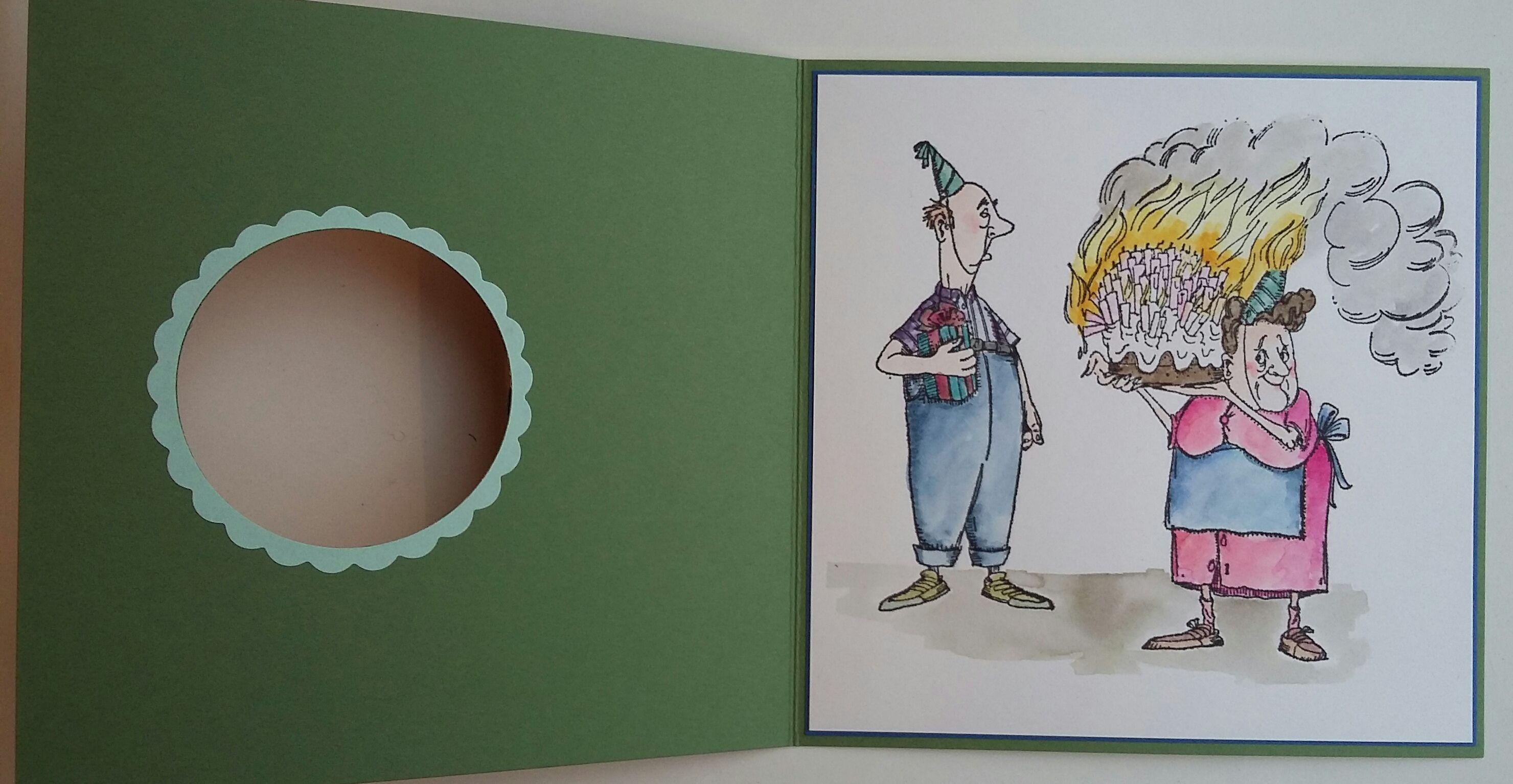 Hutton's arts and crafts handmade birthday card käsintehty syntymäpäivä kortti Art Impressions