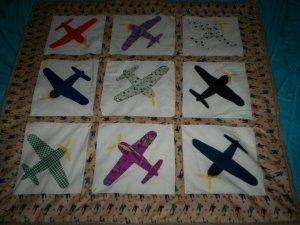 Vintage Plane Quilt Pattern Quilts Quilts Airplane