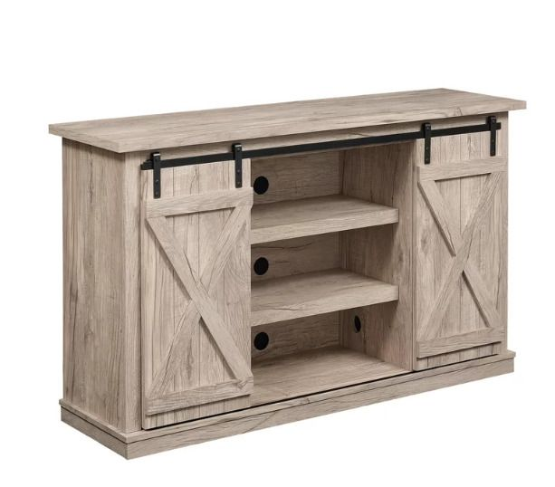 Rustic Tv Stand Cabinet Entertainment Center Barn Doors