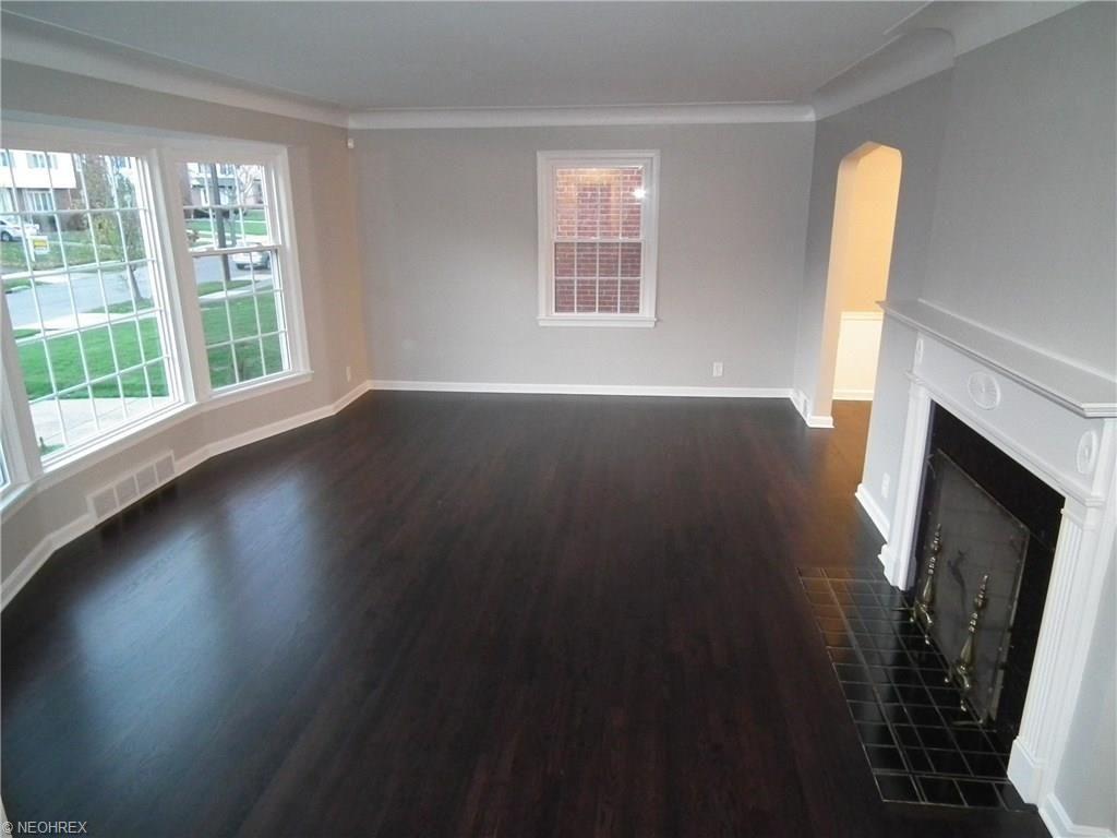 Shaker Heights Oh Living Room Remodel Refinished Hardwood