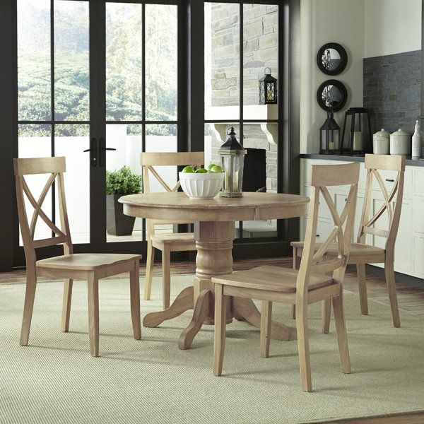 Irwinton 5 Piece Solid Wood Dining Set Dining Room Sets Solid Wood Dining Set Round Pedestal Dining Table