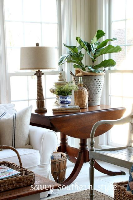 Pretty Drop Leaf Table Savvy Southern Style Homes Decor