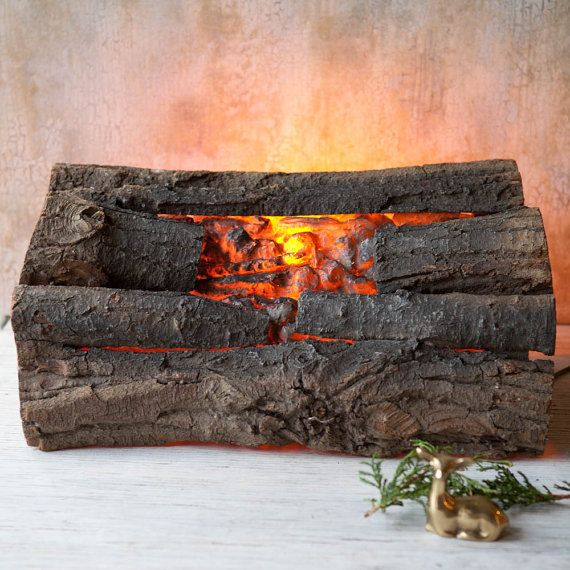 Faux Fireplace Logs 1970s Vintage Real Logs By Roostersnestvintage Faux Fireplace Fireplace Dimensions Fireplace Logs