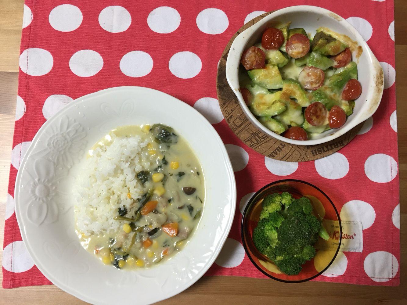 クリームシチュー チーズ焼き 温野菜