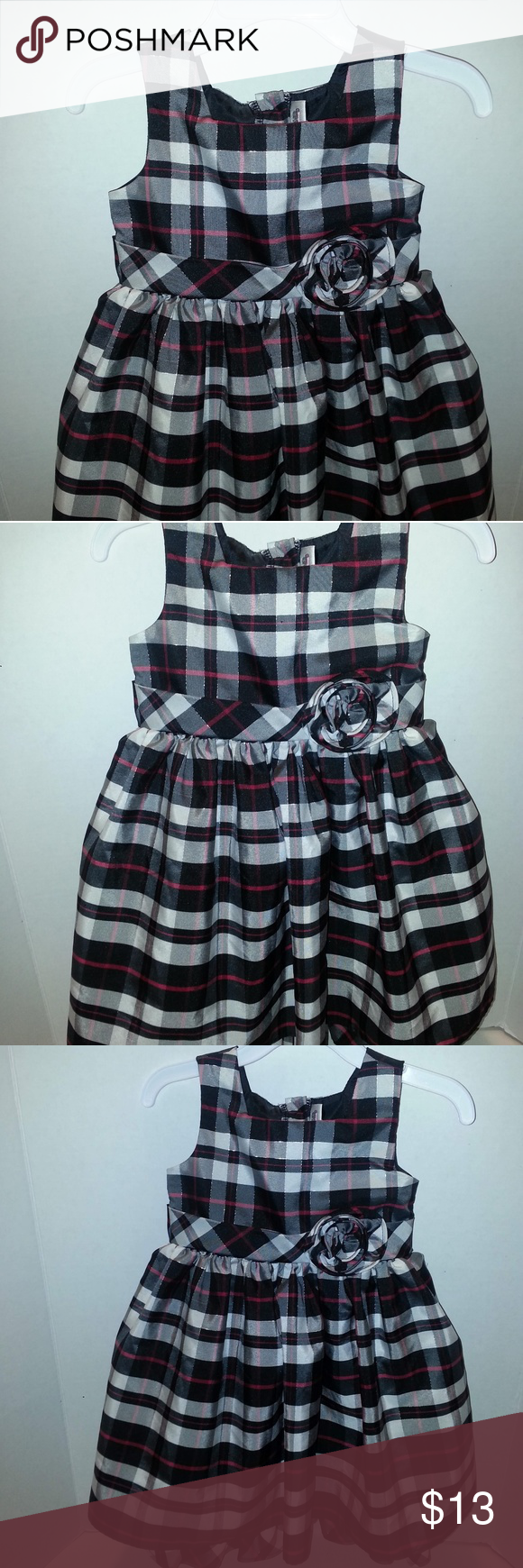 Youngland Toddler Girls Dress 2t Black White Toddler Girl Dresses Girls Dresses Toddler Girl [ 1740 x 580 Pixel ]