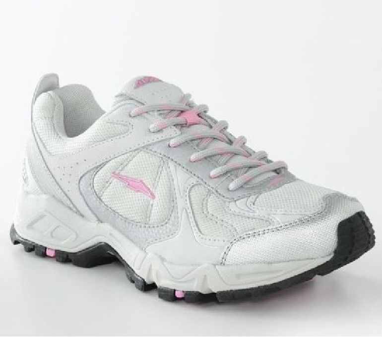 AVIA Cantilever Athletic Sneakers White Pink Brown Girls Lace-up Shoes