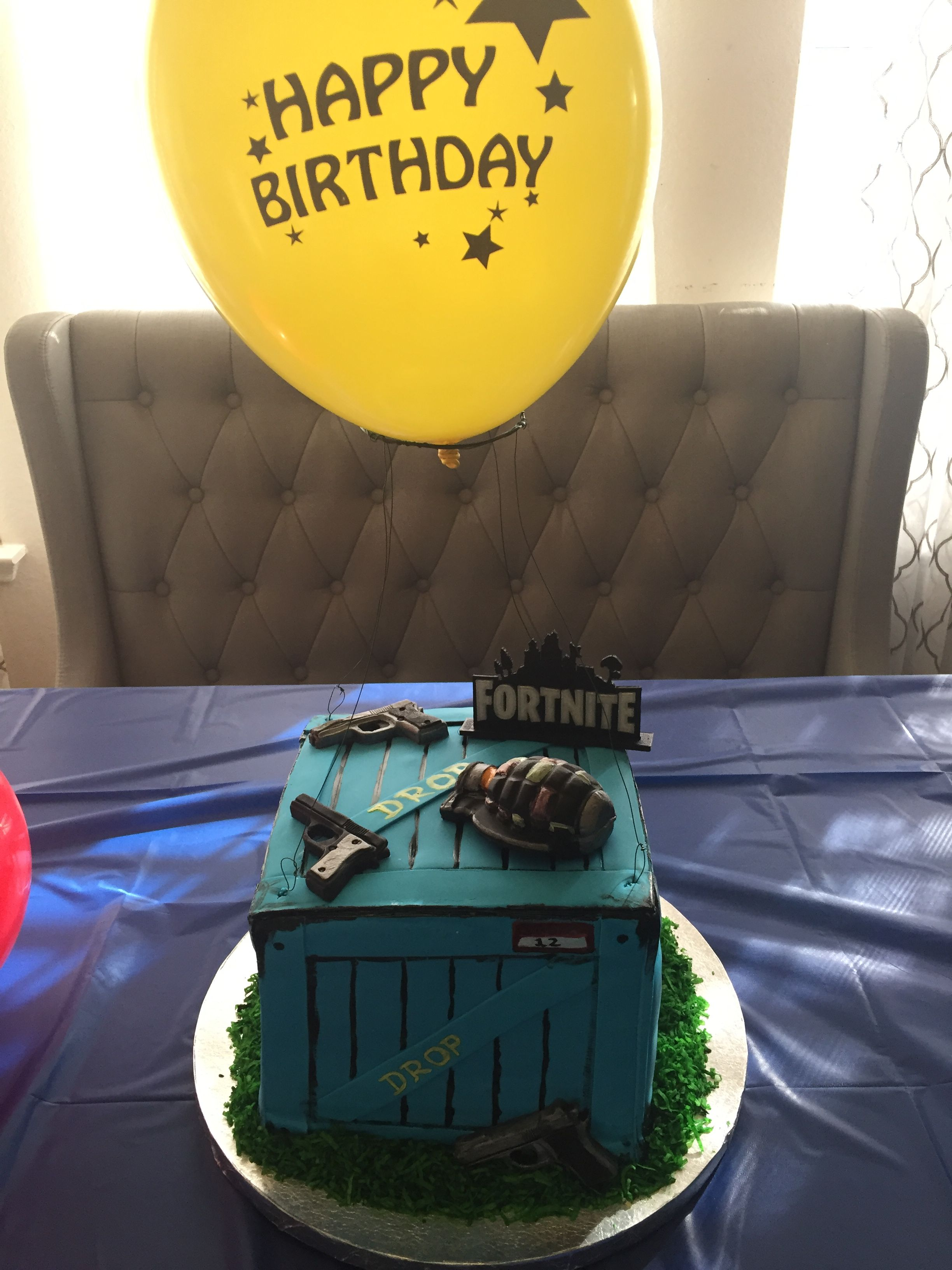 Fortnite Supply Drop Box Cake Cake Ideas In 2019 Drop