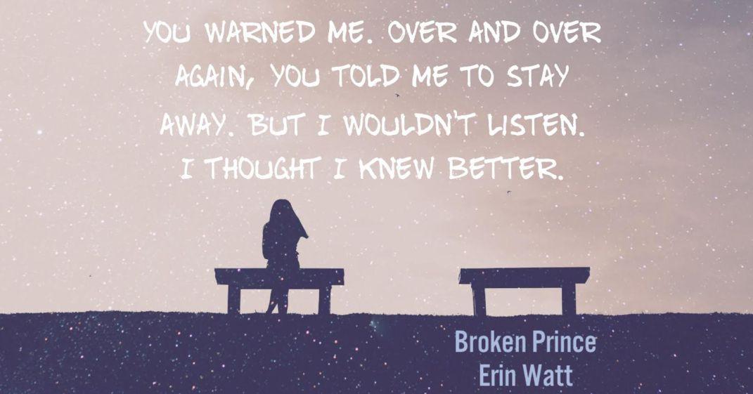 TEASER: BROKEN PRINCE by Erin Watt   Kindle Friends Forever